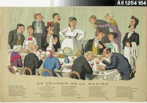 La chanson de la mariee, pilakuva Gunnar Berndtsonin maalauksesta Morsiamen laulu