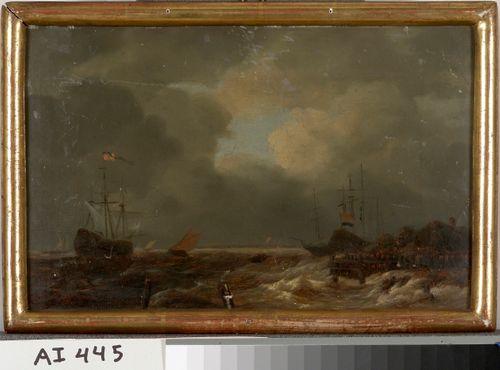 Hollantilainen satama, kopio Jacob van Ruisdaelin mukaan