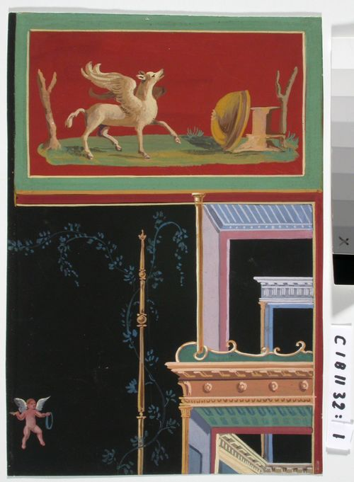 Viisi kopiota pompeijilaisista seinämaalauksista