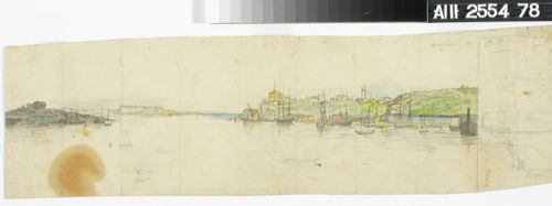 Kaupunkikuva mereltä päin nähtynä, keskeneräinen