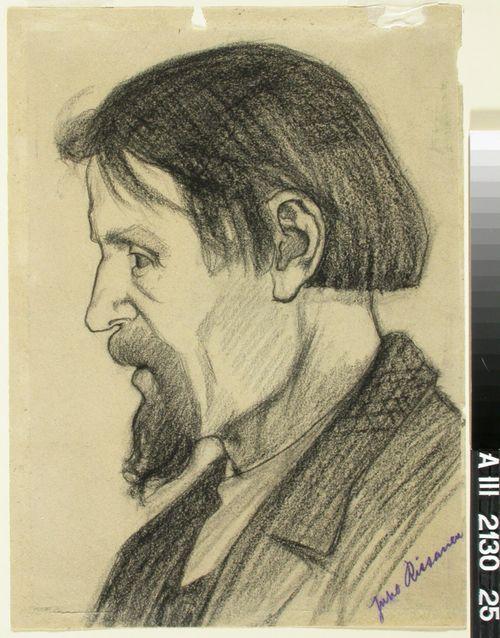 Profilbild av en skäggig man