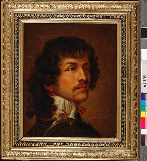 Miehen rintakuva, kopio van Dyckin mukaan?
