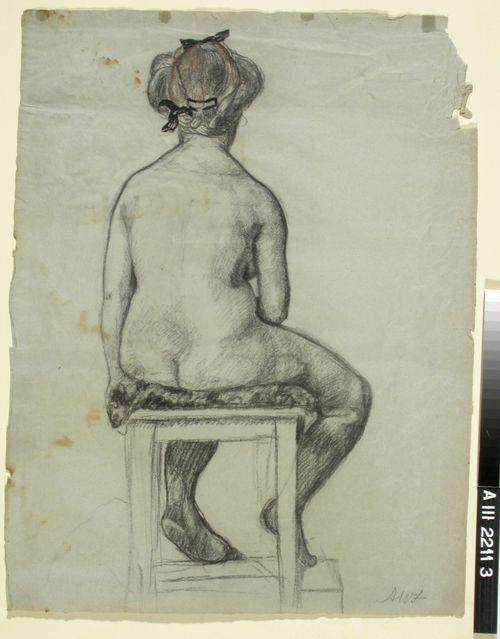 Malliharjoitelma, istuva tyttö