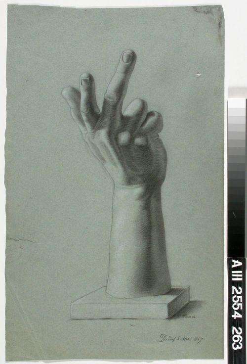 Kipsinen käsi, akatemiaharjoitelma