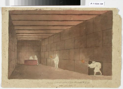 Gizehin pyramidin hautakammion sisäkuva