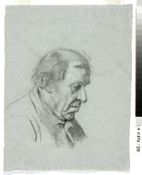 AIHE: Alaspäin katseleva vanha mies
