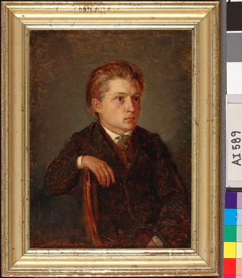"""""""Nuoruudenystävän"""" muotokuva (Hjalmar Montell)"""