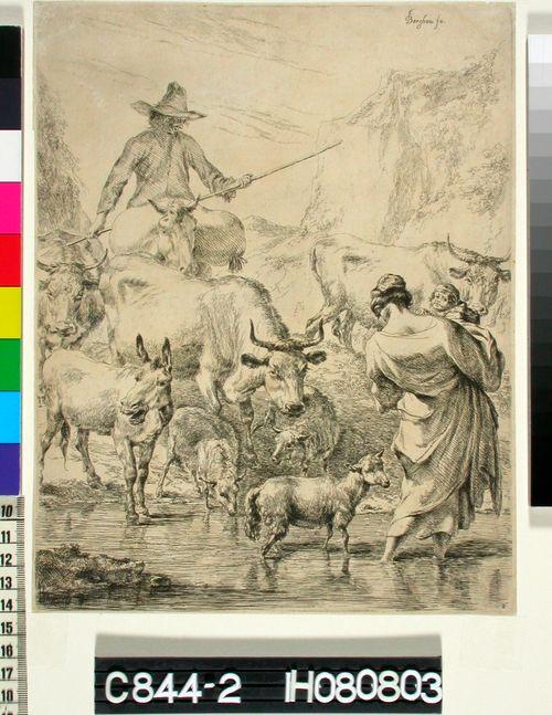 Vuoripurolla (Le troupeau traversant le ruisseau)