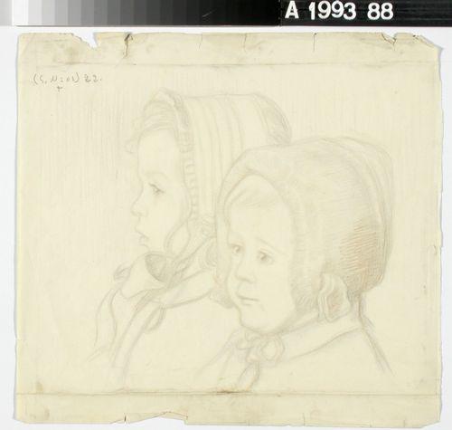 Taiteilijan tyttäret Sara ja Laura