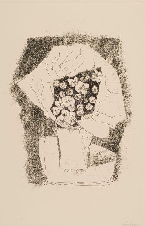 Paperiin kääritty kukkakimppu