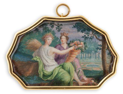 Mytologinen kohtaus (Ceres ja Fortuna)