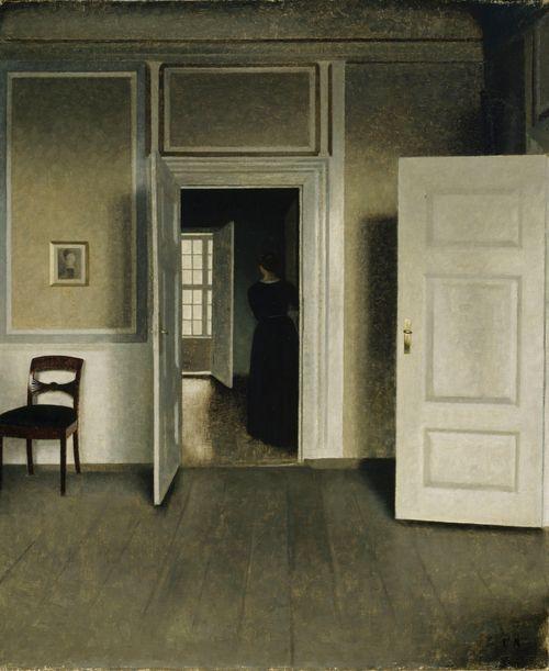 Sisäkuva taiteilijan kodista