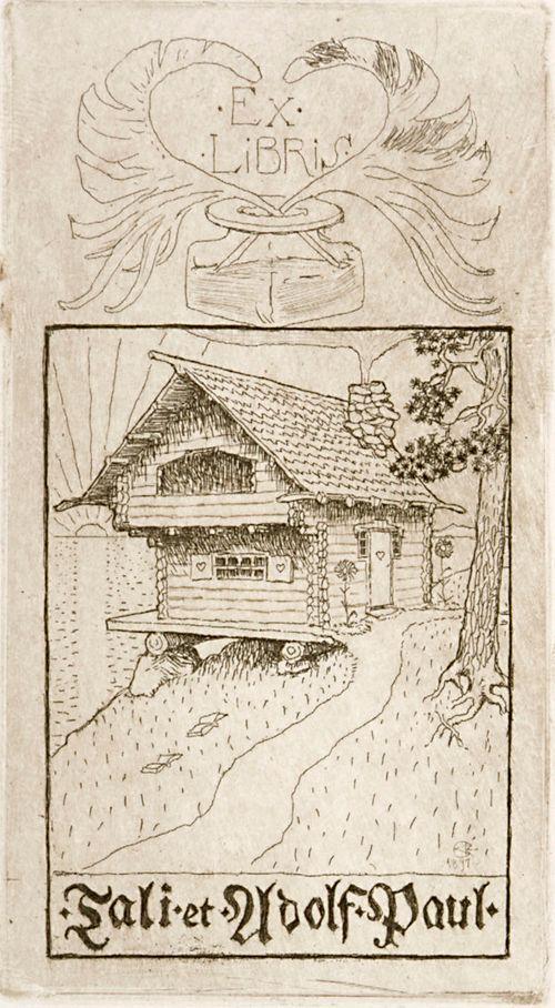 Tali ja Adolf Paulin exlibris