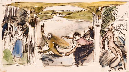 The Aino Myth, sketch
