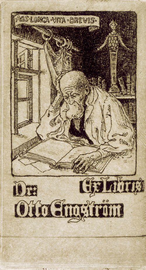 Tri Otto Engströmin exlibris