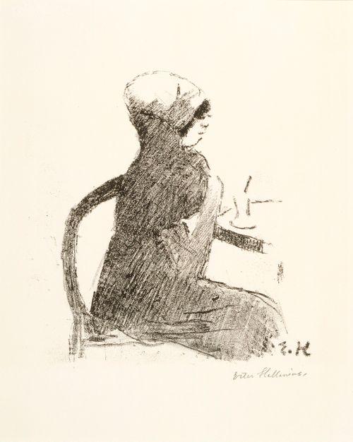 Nainen Rotonden kahvilassa
