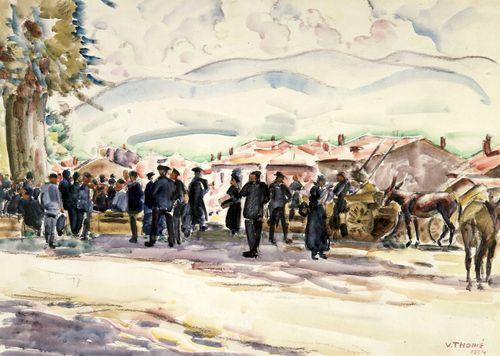 Markkinat Pyreneillä