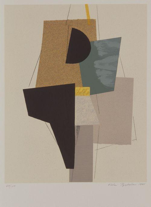 Abstrakti (musta ja beige)