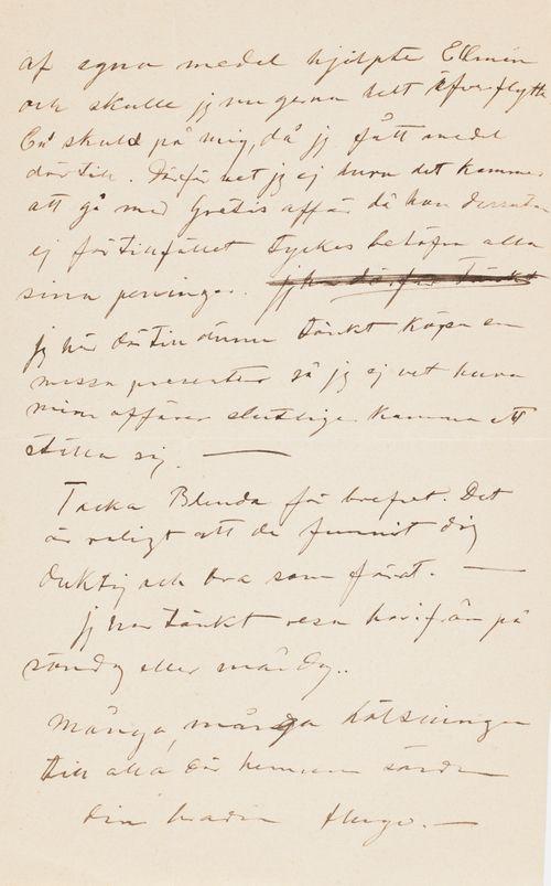 Hugo Simbergin kirje Elsa Simbergille 25.5.1904